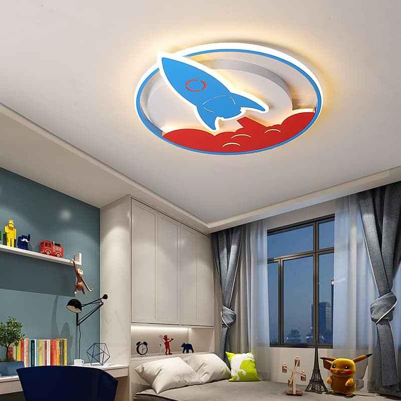 蓝色火箭儿童吸顶灯 04302