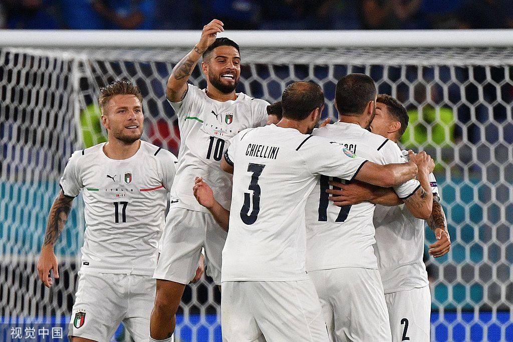 欧洲杯-因莫比莱传射因西涅破门 意大利3-0土耳其