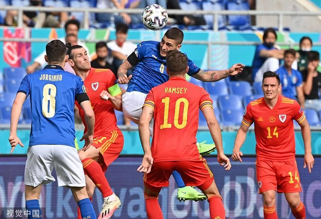 欧洲杯-佩西纳制胜贝尔失良机 意大利1-0十人威尔士