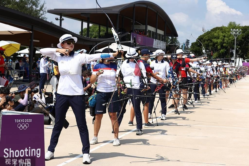 射箭女子个人排名赛 韩国新星破奥运纪录杨晓蕾第14