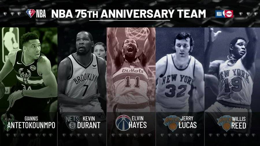 NBA75大巨星第一批:指环王领衔 KD字母哥哈登在列