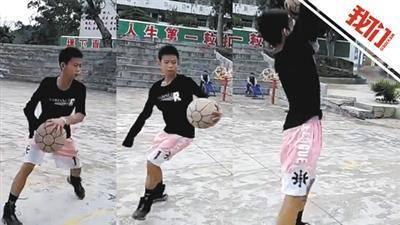 独臂少年打球视频走红 称期望成为篮球运动员