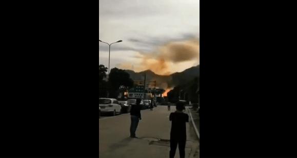 浙江温岭一辆油罐车爆炸 目前伤亡情况不明