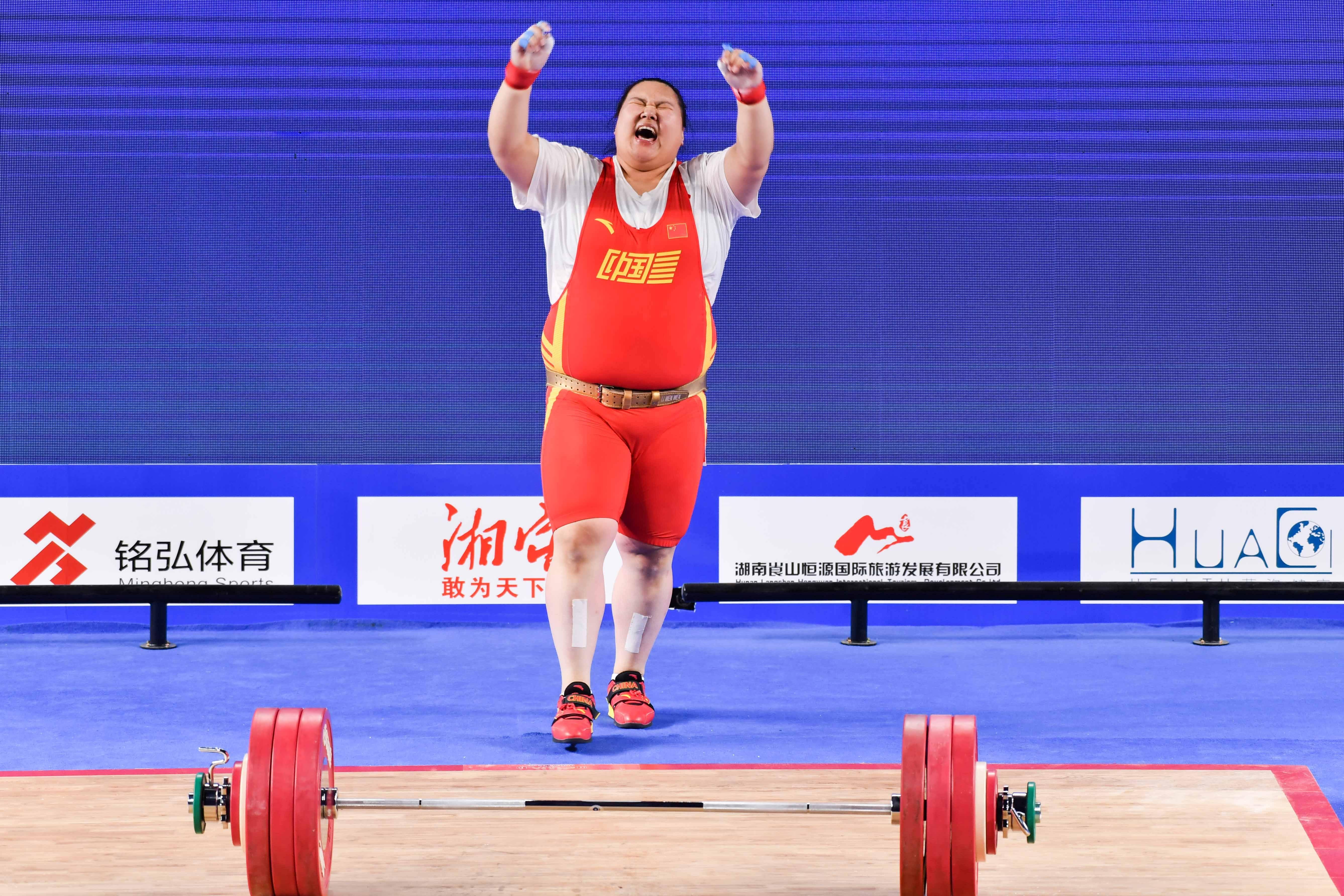 举重——全国女子举重锦标赛:李