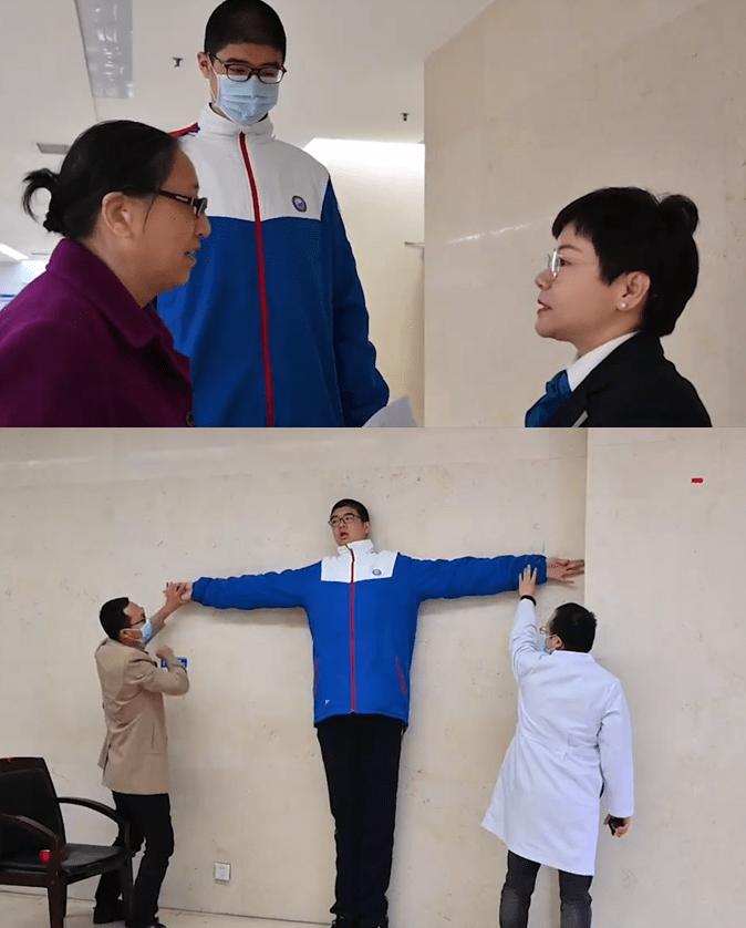 四川14岁男孩高221厘米 吉尼斯认证世界第一巨人有多高?