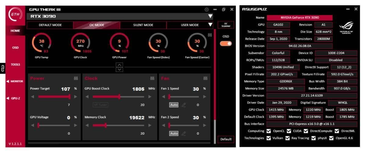 华硕发布GPU Tweak III开放测试版:UI界面优化,超频设置更简单