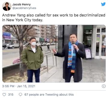 杨安泽提议:纽约开赌场, 卖淫合法, 餐馆成接种点