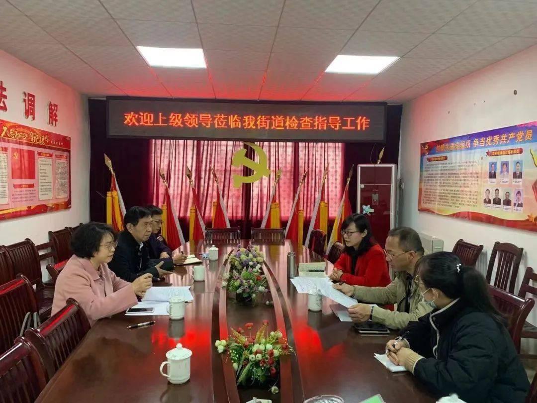 鱼峰区委政法委领导莅临荣军街道检查指导工作