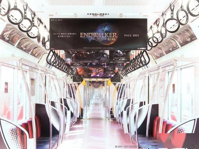 为纪念《FF14》最新资料片公开东京地铁列车内将张贴相关广告