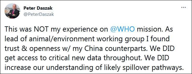 中国拒绝分享数据?世卫专家:《纽约时报》断章取义,无耻