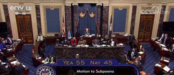 """参议院就指控特朗普""""煽动叛乱""""的弹劾条款投票"""