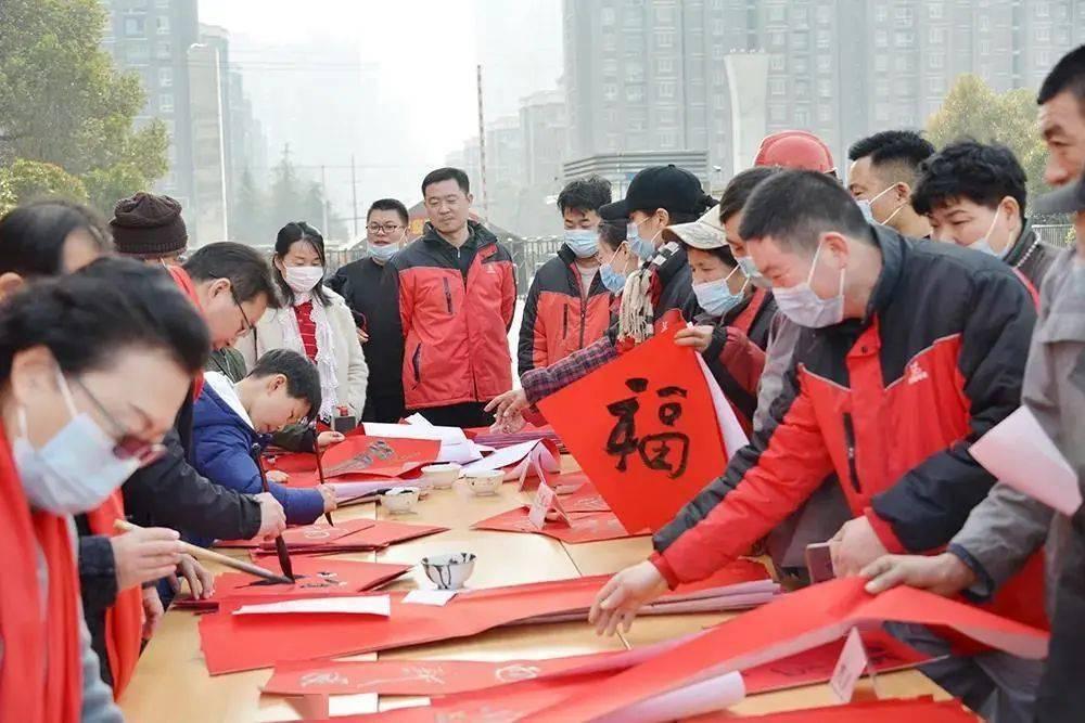 淮海控股集团的春节食堂并没有停止为当地春节员工提供补贴
