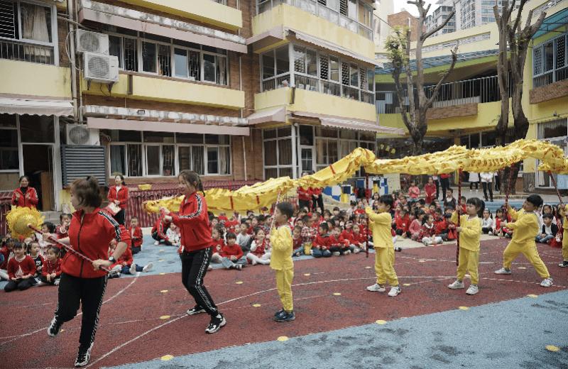 师生同台舞龙、萌娃拔河PK,深圳一幼儿园萌娃元宵乐翻天