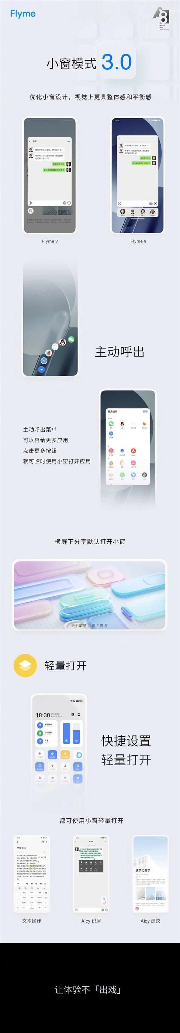 魅族Flyme 9发布:界面/动画/隐私大升级、首发小窗模式3.0的照片 - 10