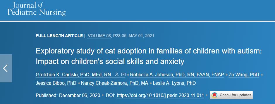 又想骗我养猫!科学家发现:猫咪或能帮助自闭症儿童减轻焦虑?