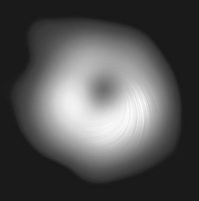 """超级黑洞拥有新相片人们初次""""看到""""的光的偏振图象"""