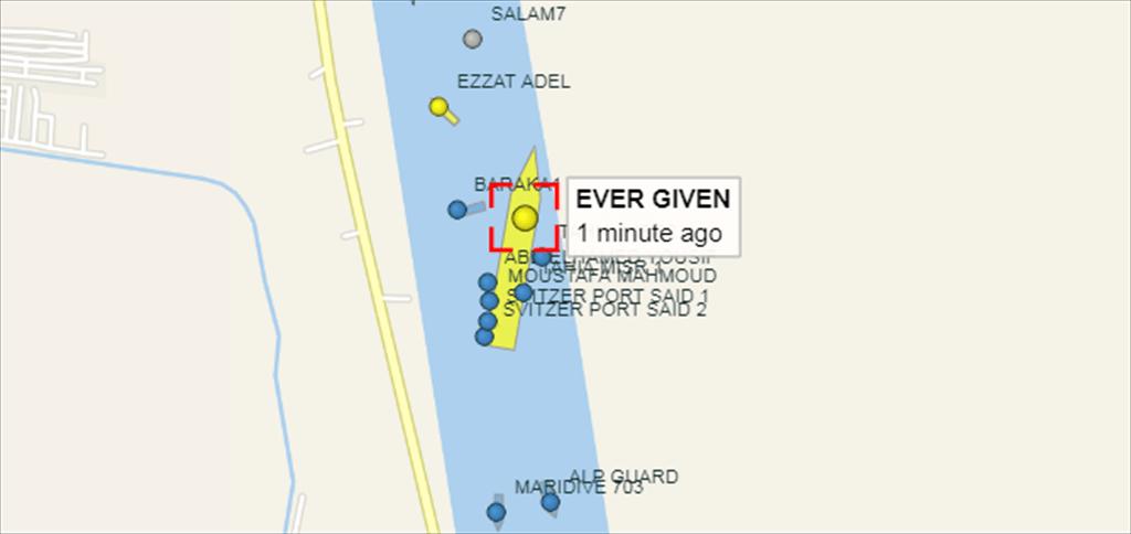 """快报!台湾媒体:卡在苏伊士运河的""""长赐号""""超大型货船已""""贴近"""