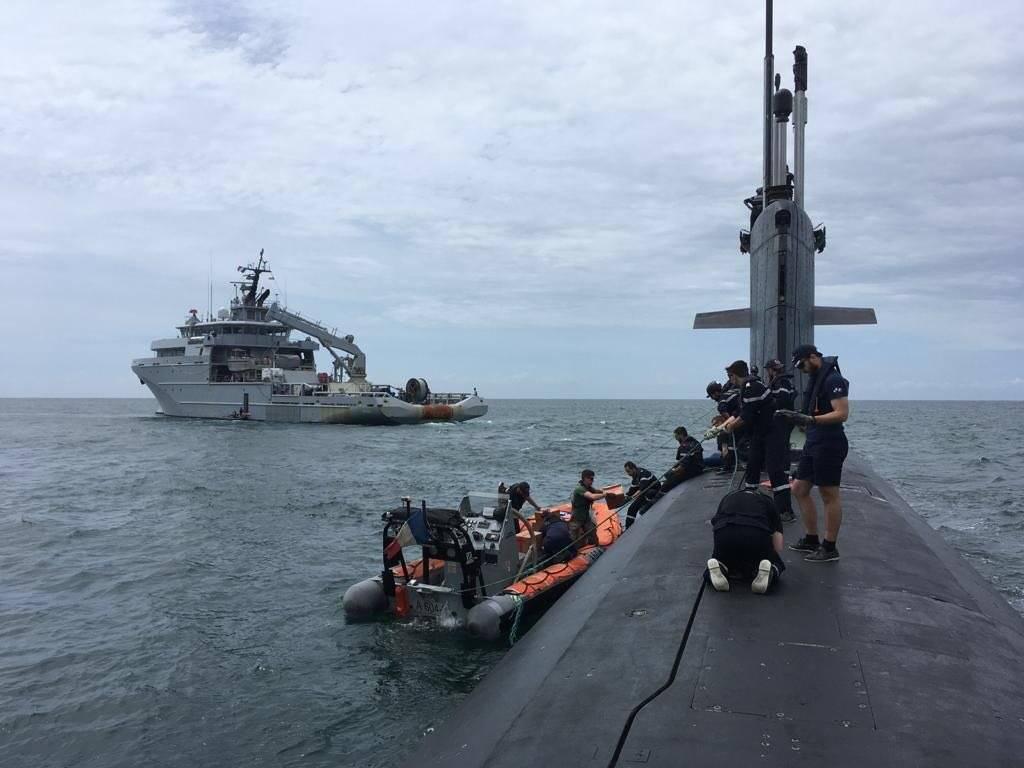 台高官:法国核潜艇近日在南海出没