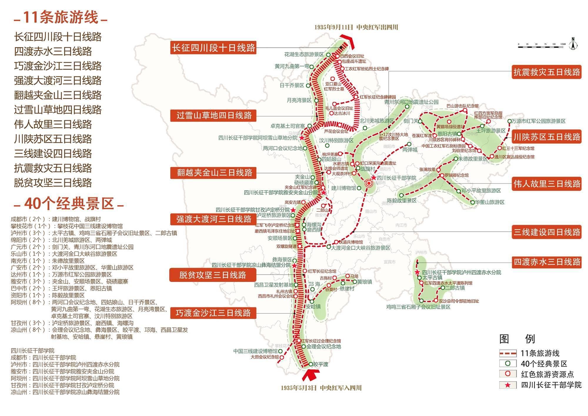 四川发布40个红色旅游经典景区 赶紧来看看有哪些?