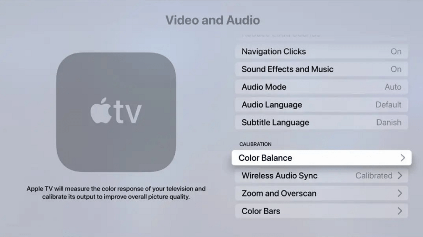 iPhone 变身「校色仪」Apple TV