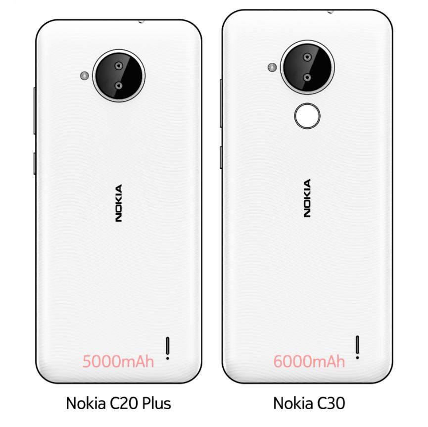 诺基亚 C20 PlusC30 曝光:最大 6000mAh 电池,配备后置双摄