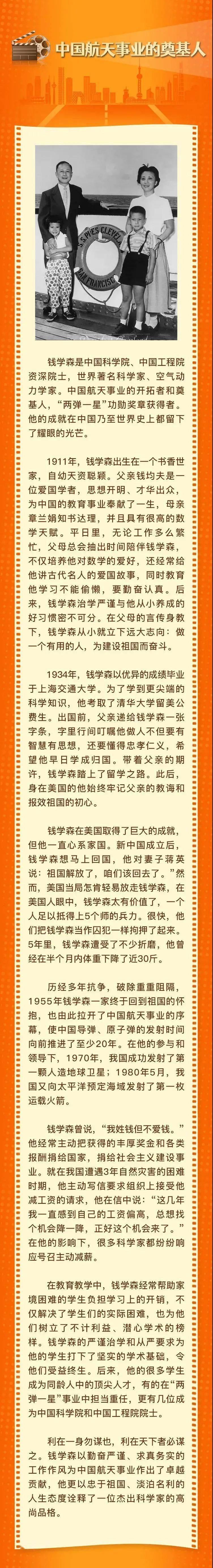 """家风故事汇㉑   """"中国航天事业的奠基人""""——钱学森"""