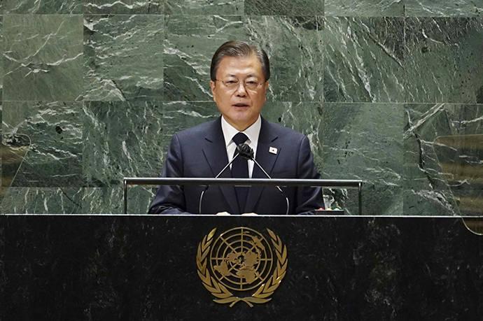 文在寅在联合国大会上再次呼吁结束朝鲜半岛的战争状态