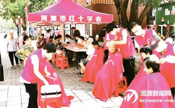 红十字志愿服务进社区 提升群众幸福感