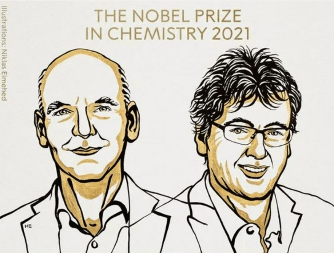 美德两国科学家共享,2021 年诺贝尔化学奖揭晓
