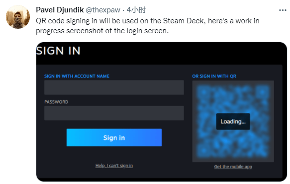 SteamDB 创始人:Steam 将加入 App 扫二维码登陆功能